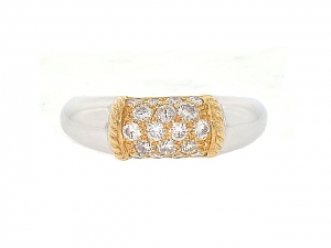 Van Cleef & Arpels 'Philippine' Diamond Ring in 18K