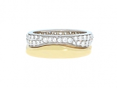Cartier Diamond Nesting Ring Set in 18K
