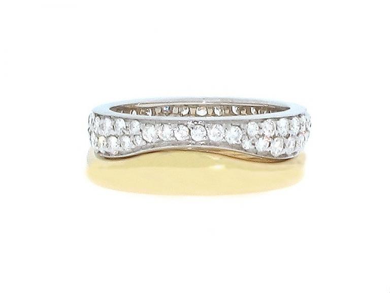 Video of Cartier Diamond Nesting Ring Set in 18K
