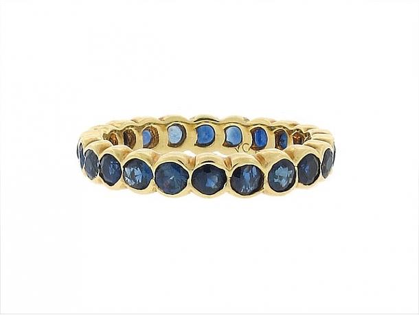 Van Cleef & Arpels Sapphire Eternity Ring in 18K