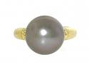 Tahitian Pearl Ring in 18K
