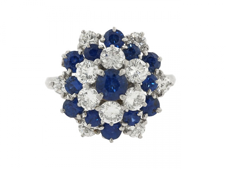 Video of Tiffany & Co. Sapphire and Diamond Ring in Platinum