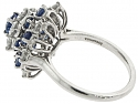 Tiffany & Co. Sapphire and Diamond Ring in Platinum