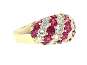 Mark Patterson Ruby and Diamond Dome Ring in 18K