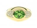 Mauboussin Peridot and Diamond Ring in 18K