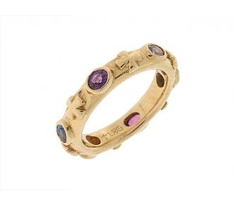 Loree Rodkin Multi-color Sapphire Ring in 18K