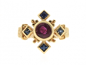 Loree Rodkin Ruby and Sapphire Ring in 18K