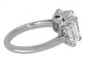 Tiffany & Co. Three Stone Diamond Ring in Platinum