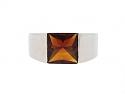 Cartier Citrine Ring in 18K White Gold
