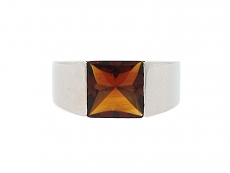 Cartier Citrine Ring in 18K White Gold