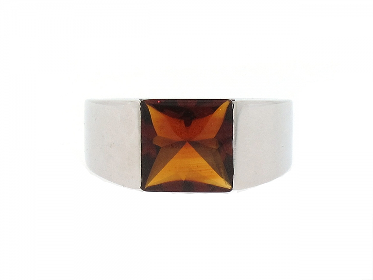 Video of Cartier Citrine Ring in 18K White Gold