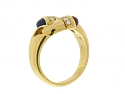 Bulgari Ruby and Sapphire Ring in 18K