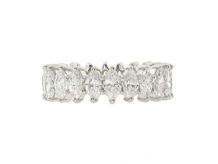 Marquise Diamond Eternity Band in Platinum