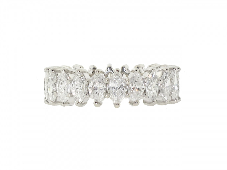 Video of Marquise Diamond Eternity Band in Platinum