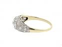 Antique Edwardian Diamond Ring in 14K and Platinum