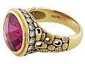 Alex Šepkus 'Little Windows' Rubellite Tourmaline and Diamond Ring in 18K Gold