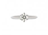 Tiffany & Co. 0.63 Carat I/VS-1 Diamond Ring in Platinum