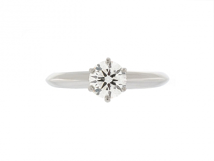 Tiffany & Co. 0.63 Carat I/VS-1 Diamond Ring in Platinum