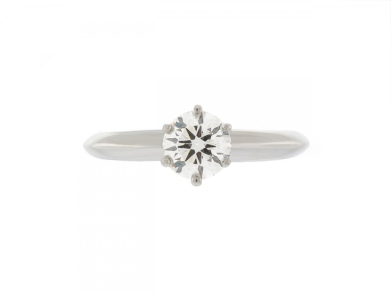 Video of Tiffany & Co. 0.63 Carat I/VS-1 Diamond Ring in Platinum
