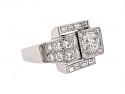 Retro 1.50 Carat G/VS-2 Diamond Ring in Platinum