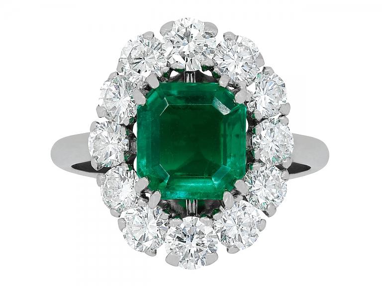 Video of Mellerio dits Meller Emerald and Diamond Ring in Platinum