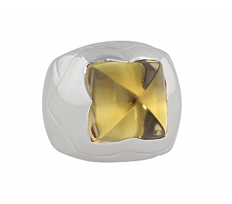 Bulgari Piramide Citrine Ring in 18K