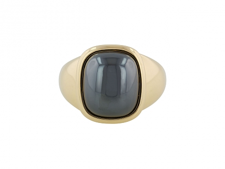 Hermès Hematite Ring in 18K