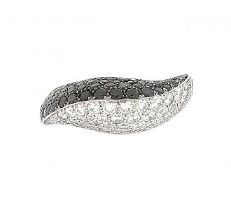 Mimi So Black and White Diamond Ring in 18K