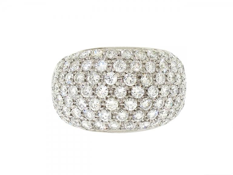 Video of Domed Diamond Ring in 18K