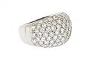 Domed Diamond Ring in 18K
