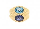 Bulgari Topaz and Iolite Ring in 18K
