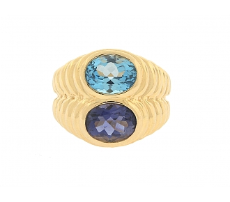 Bulgari Topaz and Iolite Ring in 18K