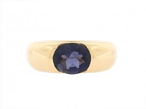 Cartier 'Ellipse' Iolite Ring in 18K