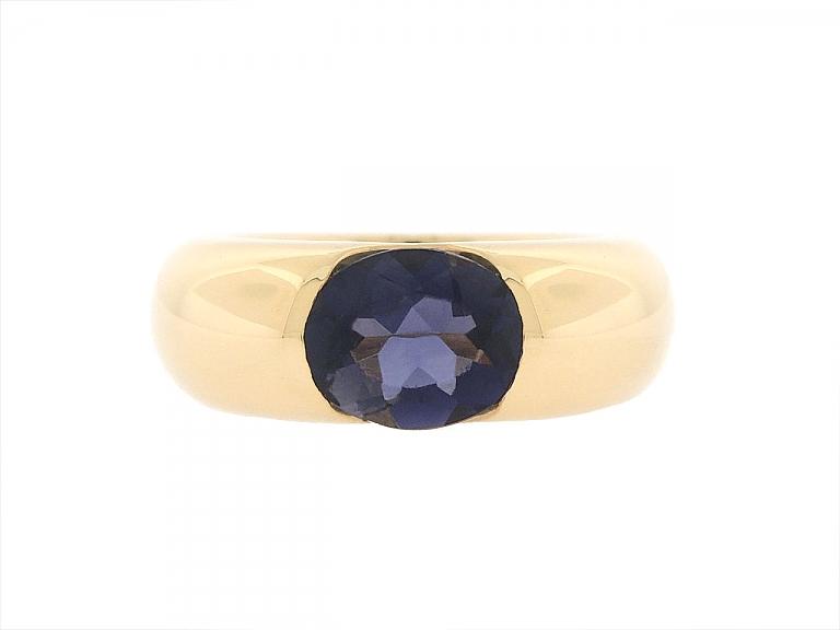 Video of Cartier 'Ellipse' Iolite Ring in 18K