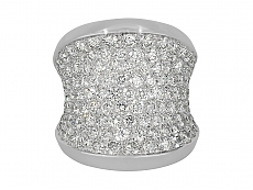 Cartier Diamond 'Chalice' Ring in 18K White Gold