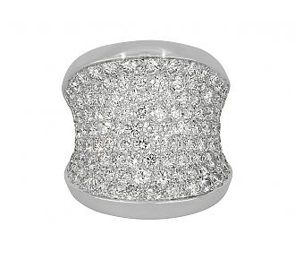 Cartier Diamond 'Chalice' Ring in 18K White Gold