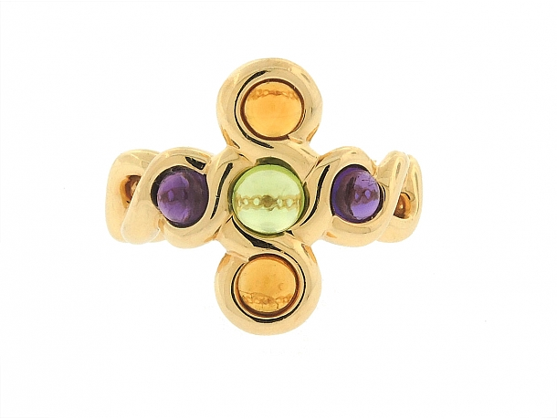 Chanel Multi-Gemstone Ring in 18K Gold