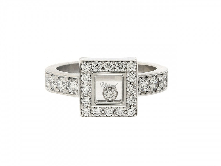 Video of Chopard 'Happy Diamonds Icons' Ring in 18K