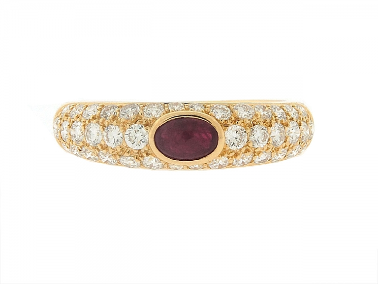 Video of Cartier Ruby Ring in 18K Gold