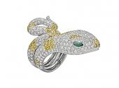 Diamond Snake Ring in 18K Gold