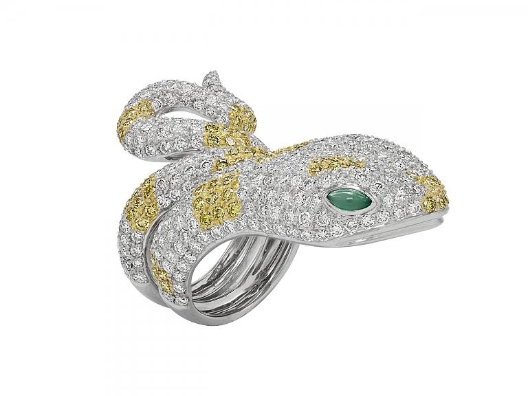 Video of Diamond Snake Ring in 18K Gold