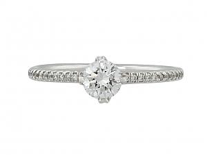 Micro-Pave Diamond Ring in 18K