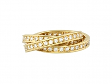 Cartier Diamond 'Trinity de Cartier' Ring in 18K