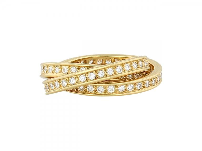 Video of Cartier Diamond 'Trinity de Cartier' Ring in 18K