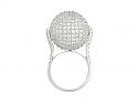 Disco Ball Diamond Ring in 18K