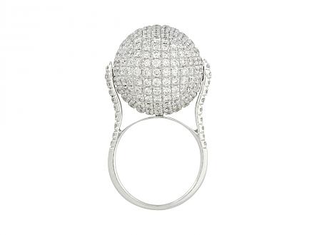 Disco Ball Diamond Ring in 18K