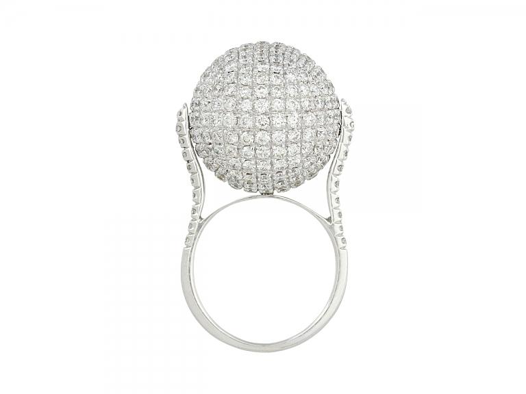 Video of Disco Ball Diamond Ring in 18K
