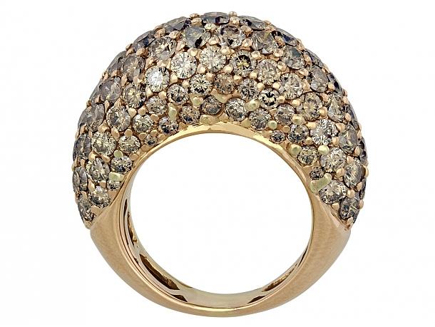Champagne Diamond Boule Ring in 18K