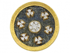 Gurhan Diamond Ring in 24K Gold and Blackened Silver