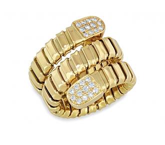 Diamond Wrap 'Snake' Ring in 18K Gold